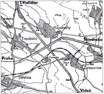 Plan of the motorway junction near Brno