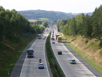 The same location nowadays (motorway D1)