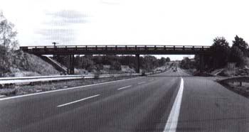 The same location in 1980's (motorway D1)
