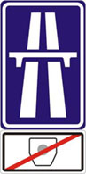 Motorway without fee (IP14a + E11)