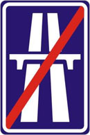 End of motorway (IP14b)