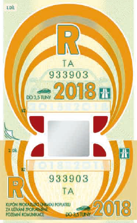 Annual sticker